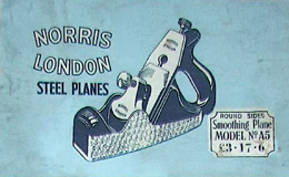 Norris A5 Smoothing Plane Box Label